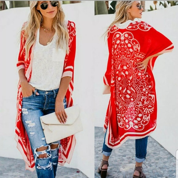 Unlisted Other - LONG CHIFFON COVER UP, KIMONO, TOP